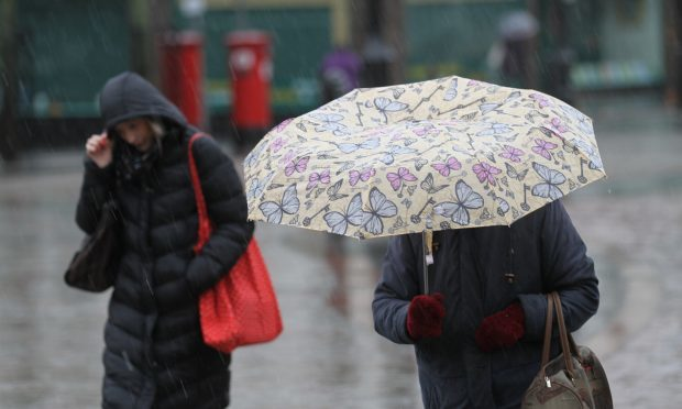 Weather warning in place with heavy rain forecast