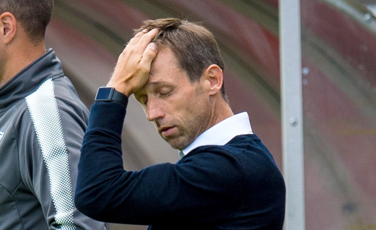 Neil McCann during the game.