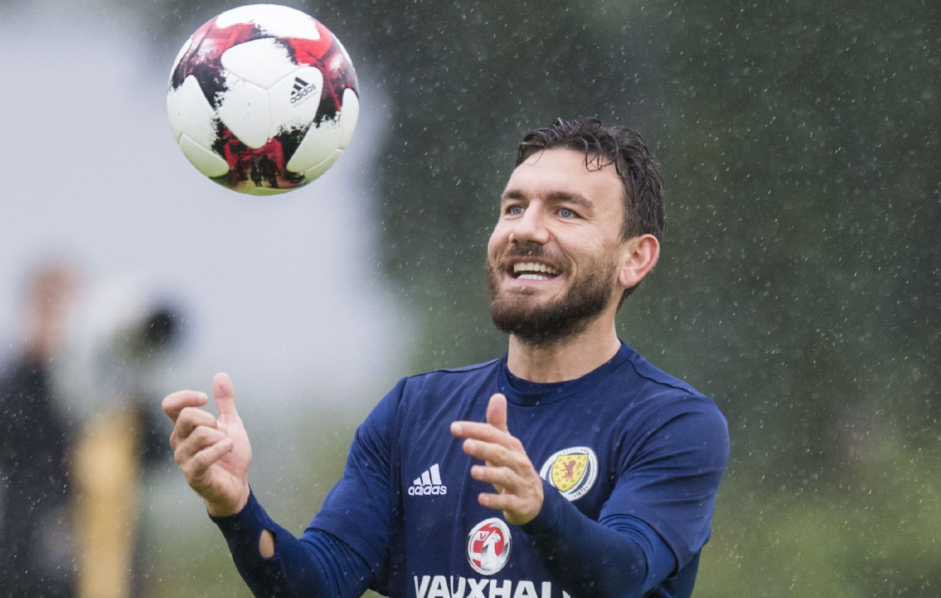 A cheery Robert Snodgrass.