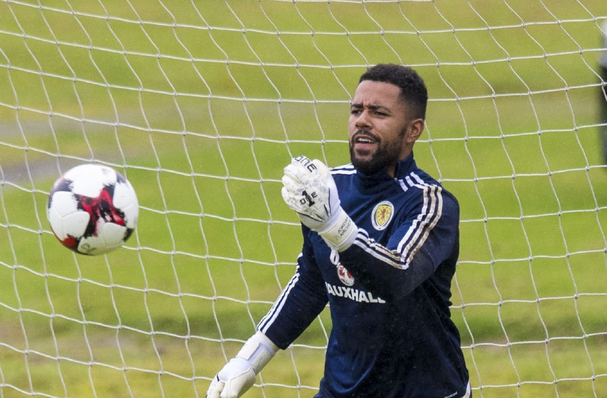 Jordan Archer made his debut in goal for Scotland