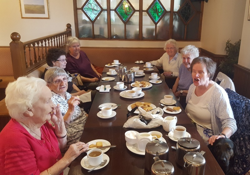 The group pictured at a recent catch-up.