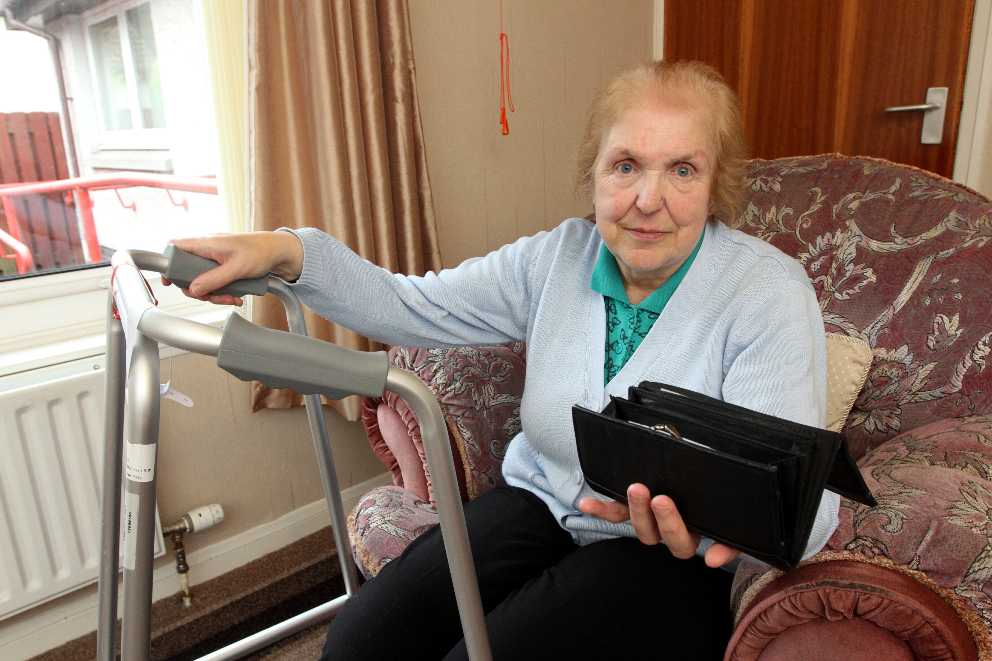 Davina Parfitt said she had £200 stolen from her purse while she was receiving treatment in Ninewells.