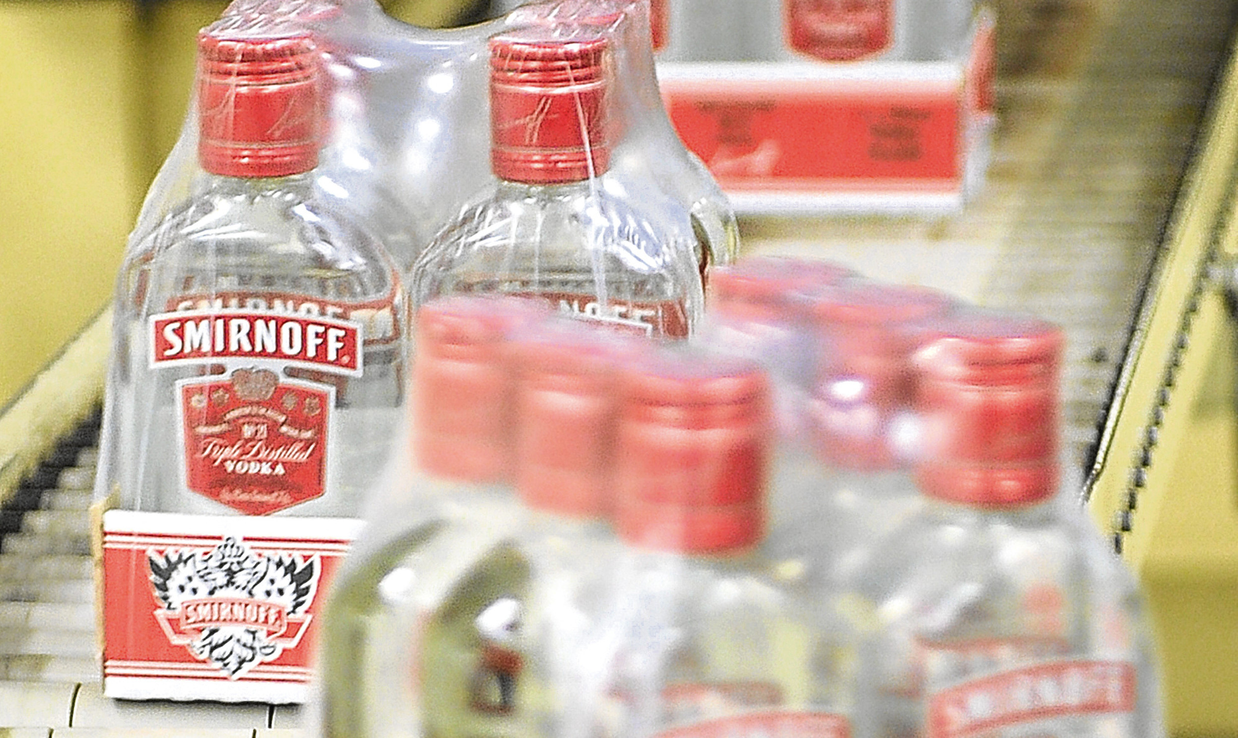 Diageos bottling plant in Leven can produce up to 500 bottles a minute