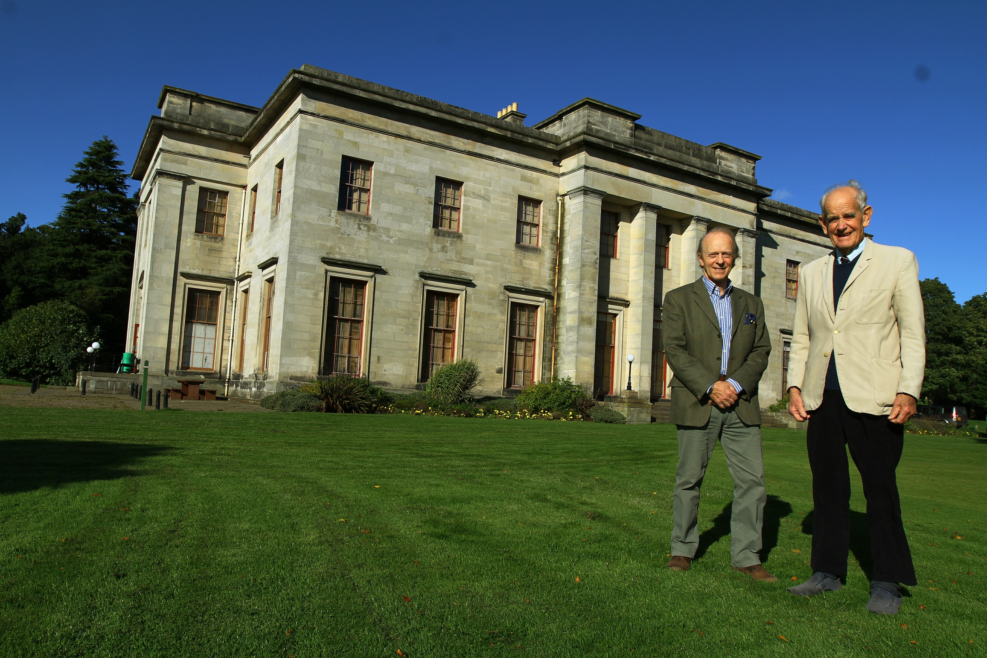 Captain James Crawford, Chairman of the Friends Of Camperdown House, and John Picton - Committee Member at Camperdown House