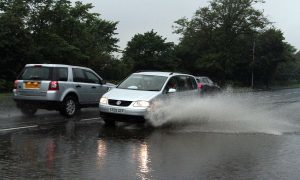 """Drivers warned after downpour batters """"all routes"""" across Tayside"""