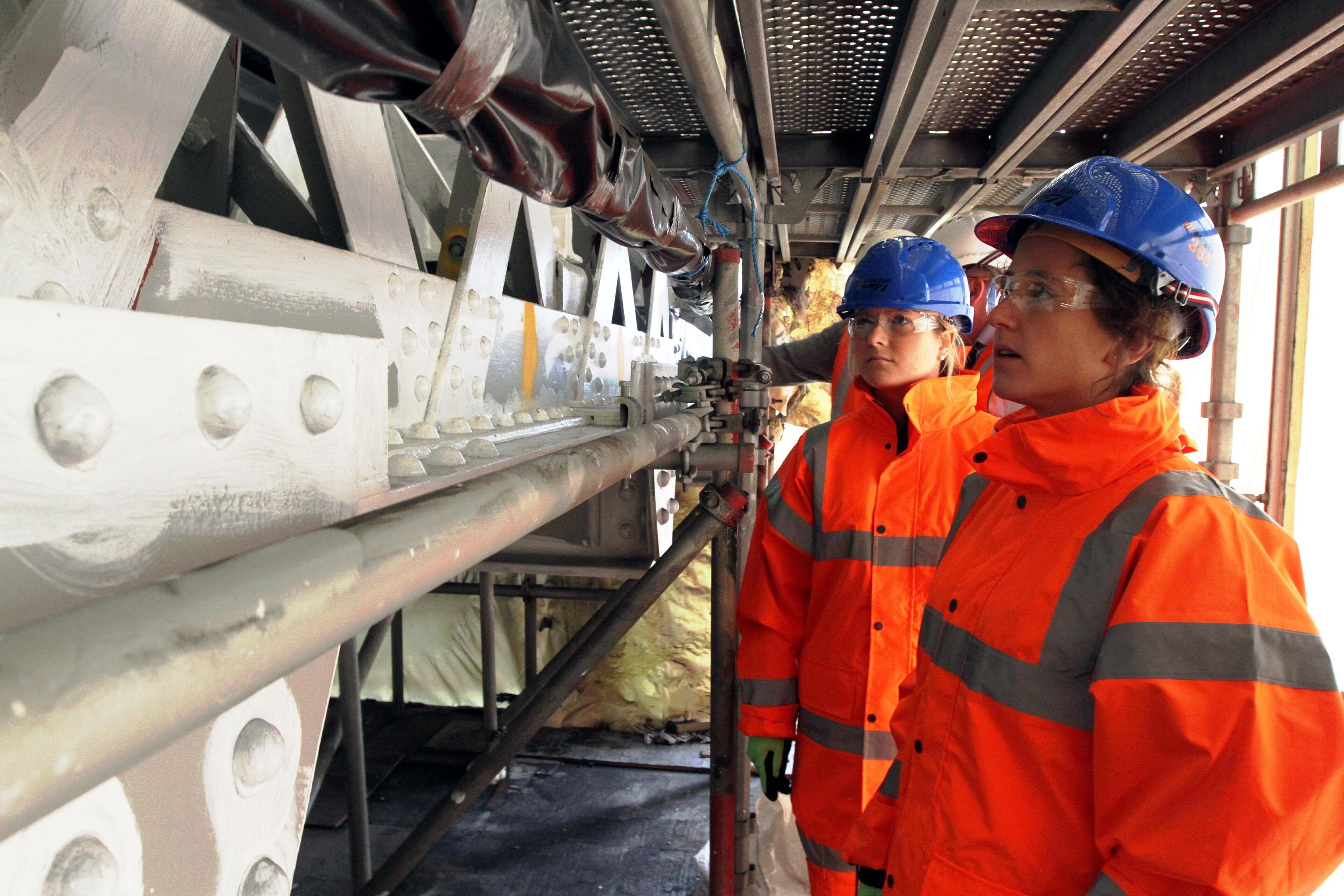 Work is under way on Montrose Viaduct