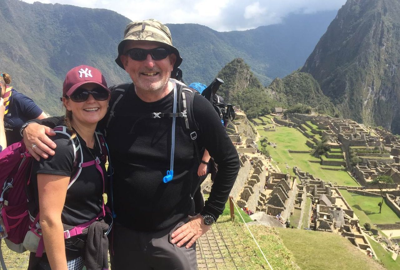 Susan Bell and Grant Ager at Machi Picchu.