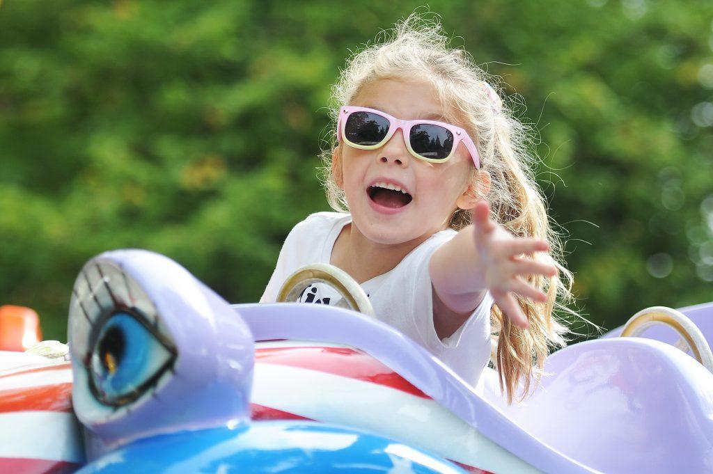 Grace McMurray (5) enjoying the funfair