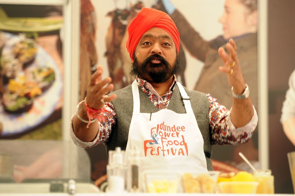 Tony Singh MBE's cookery demonstration