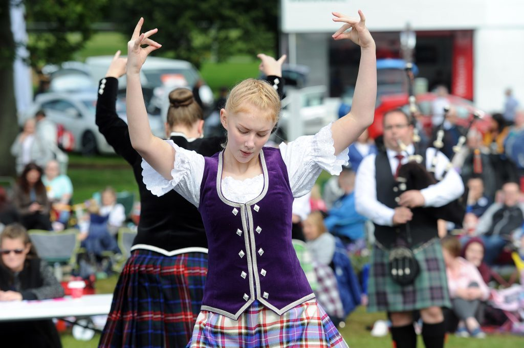 The festival's Highland Dance competition