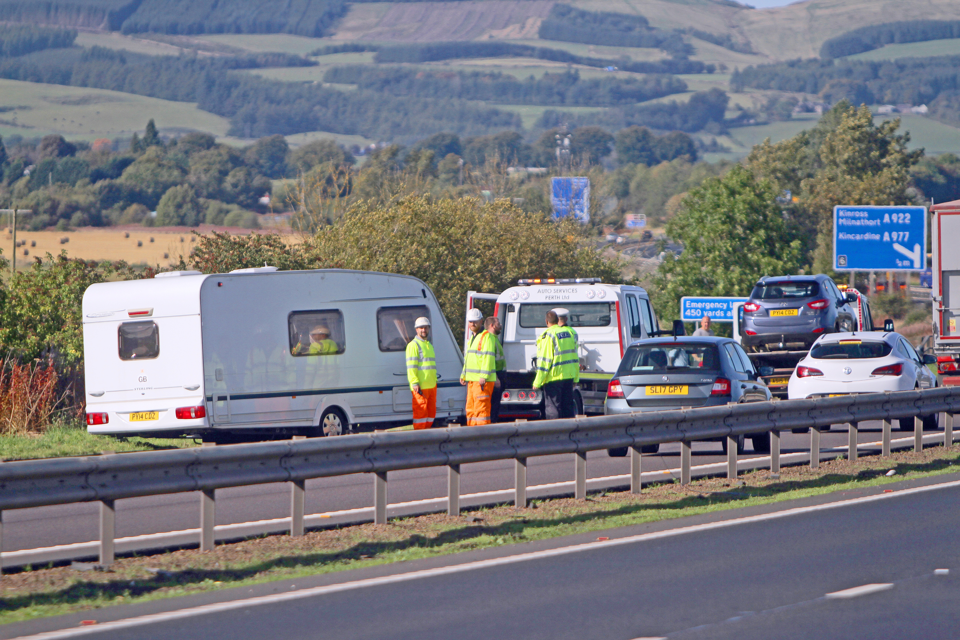 The scene of the M90 incident.