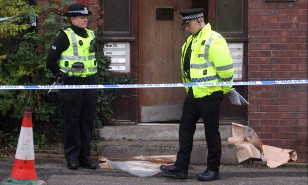 Police at the scene in Arklay Street.