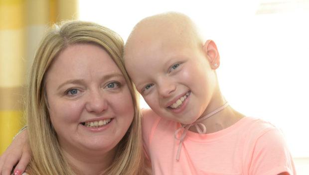 Lily Douglas with mum Jane.