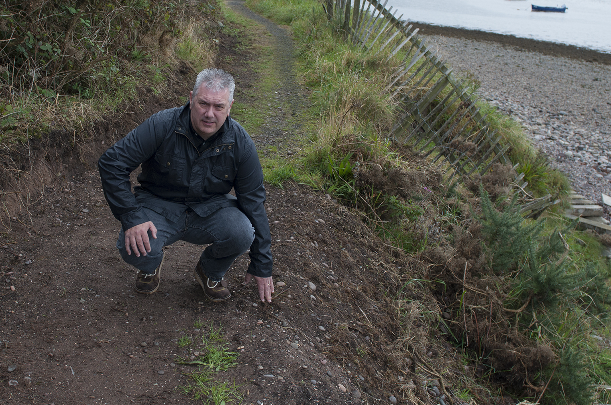 Councillor Tommy Stewart led calls for the path to be reopened