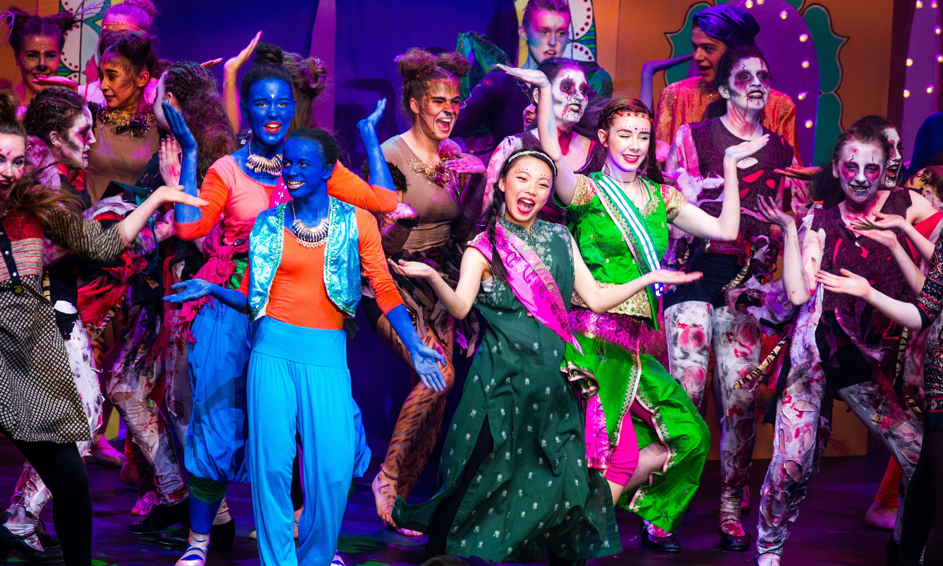 Kinross High School at the 2016 Rock Challenge in Dundee.