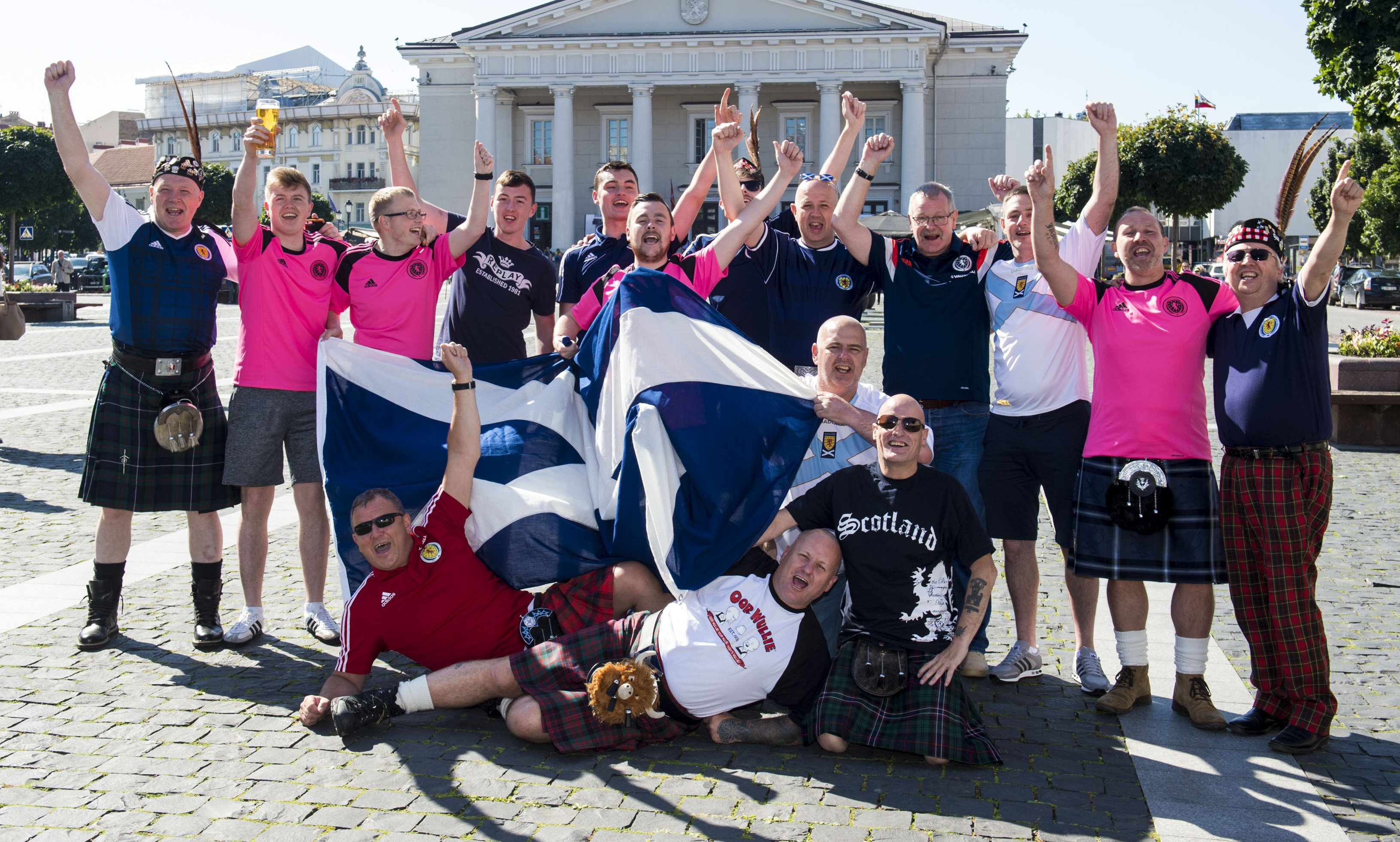 Scotland fans in good spirits out and about in Vilnius.