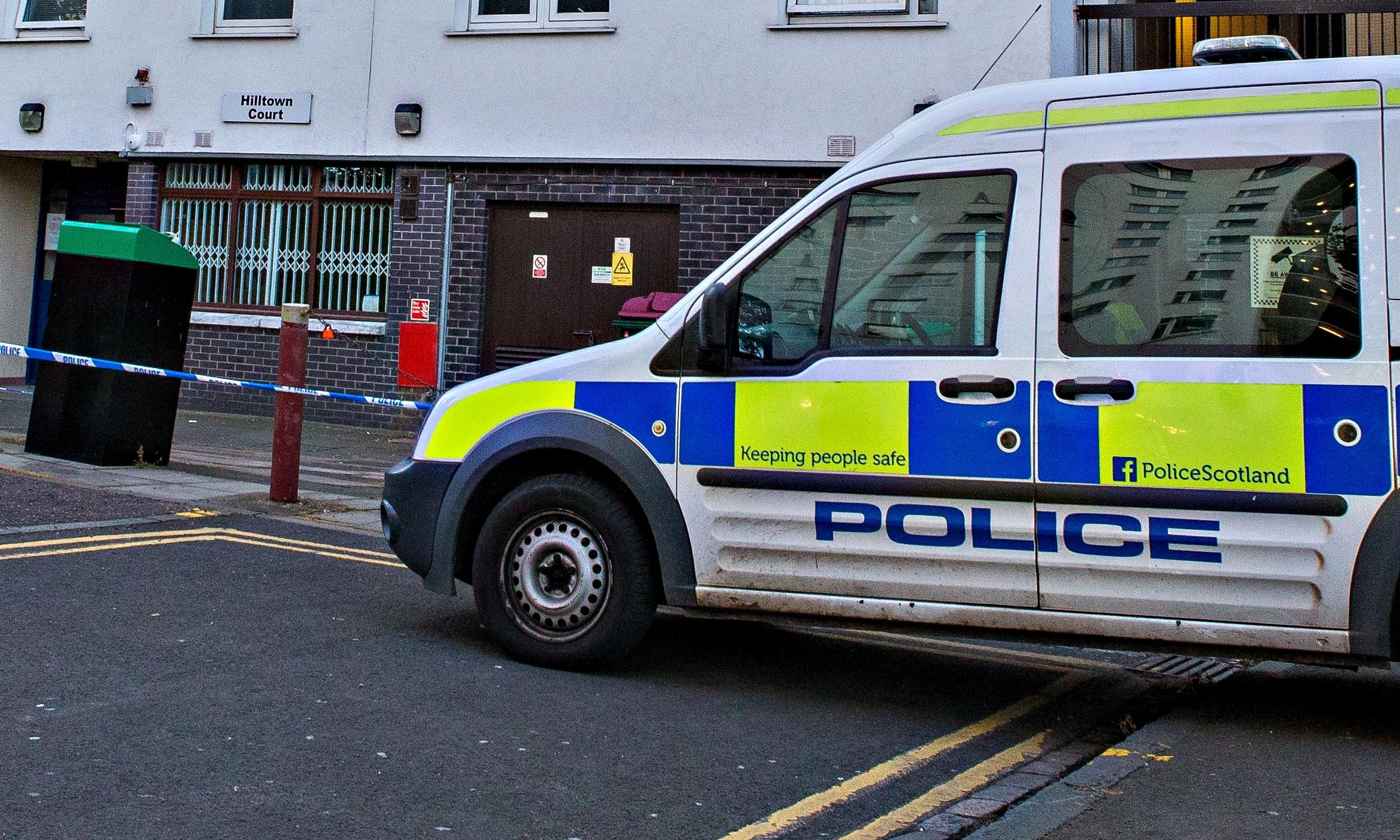 Police at Hilltown Court.