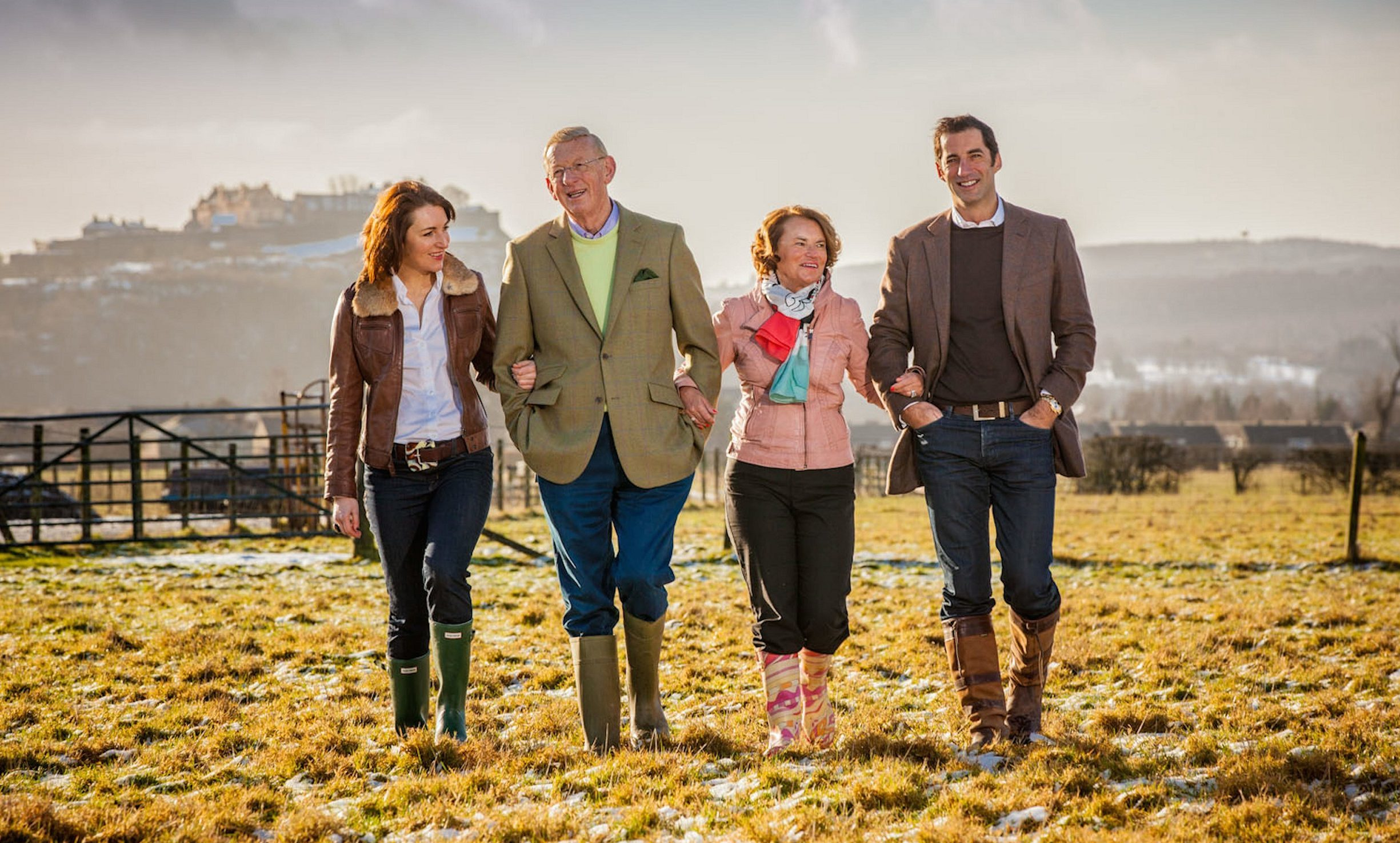 Members of the Graham's family business at the Airthrey Kerse Farm site.