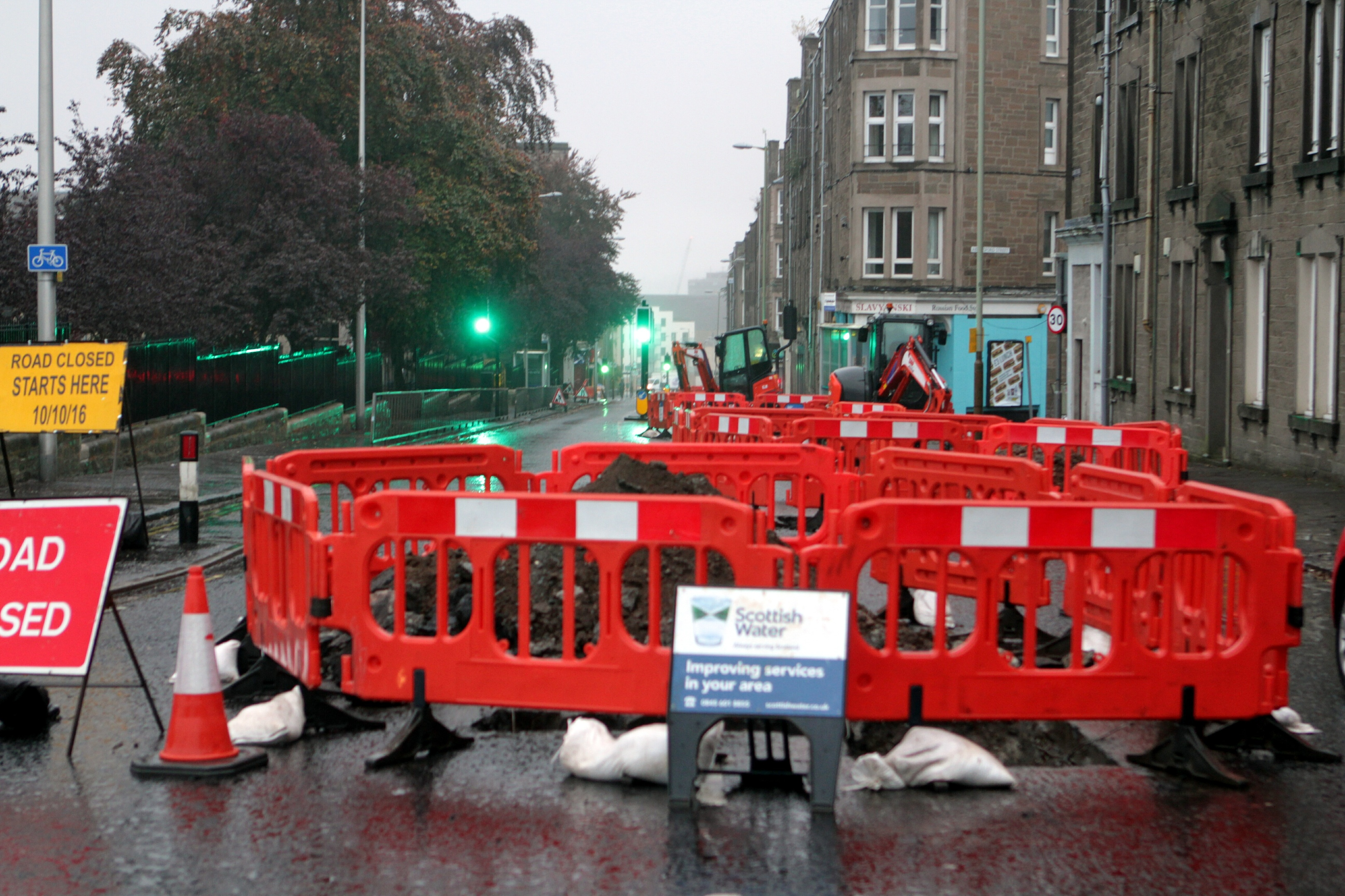 Scottish Water has carried out work in Dundee's West End.
