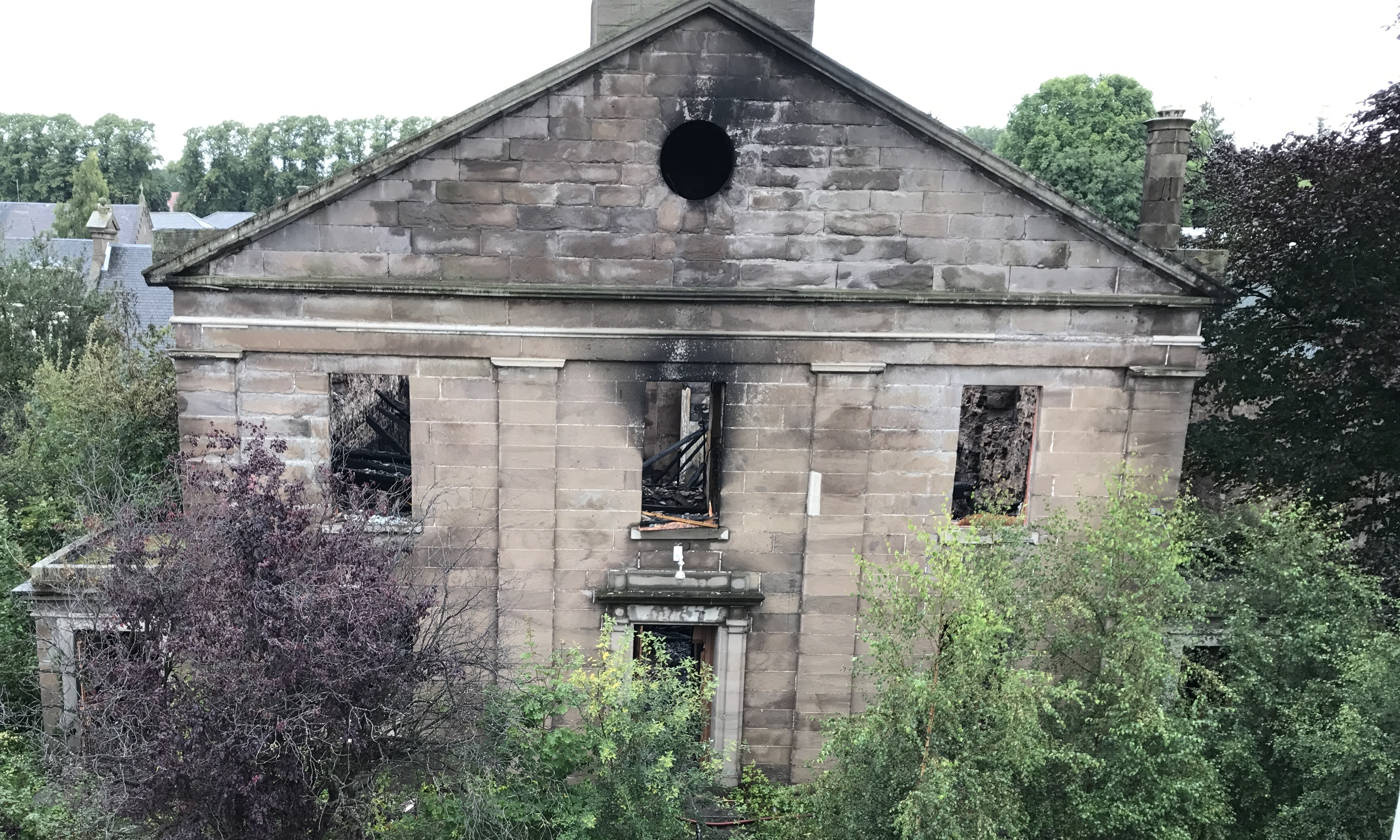 The derelict building suffered major damage in the blaze.