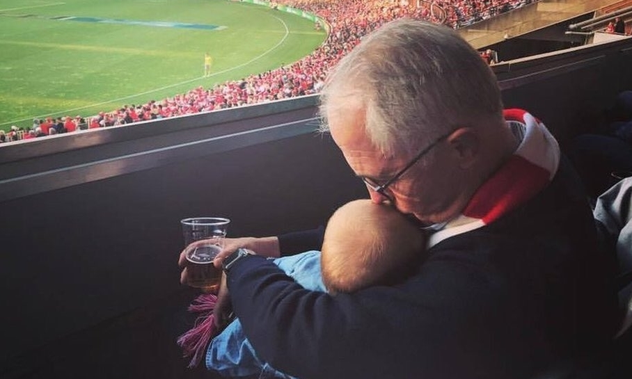 Innocent enough, it seems, but this photo from Malcolm Turnbull sparked a big reaction online.