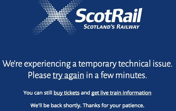 ScotRail experienced technical problems