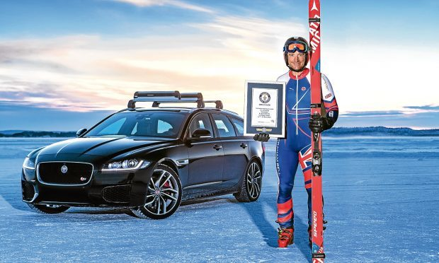 Jag sets new 'fastest towed speed on skis' record