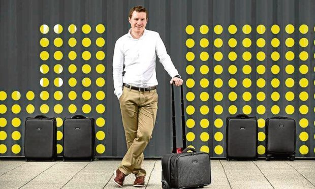 LAT_56 owner Kevin Fox with his luggage range.