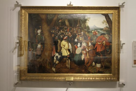 One of Brueghel's paintings, St John Preaching in the Wilderness — on display in Arbroath Library