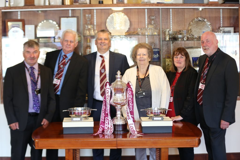 Robin Wilson, Charlie Wood, Mike Caird, Zena Nairn, Audrey Fairweather and Dave Ramsay