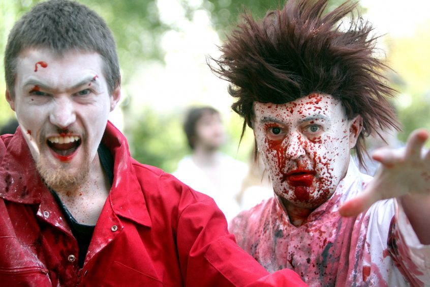 Zombies invaded Dundee on Saturday.