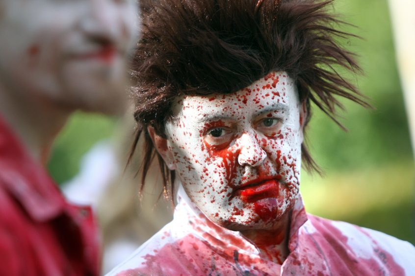 The 6th annual Zombie walk saw attendees dress-up as the popular monster