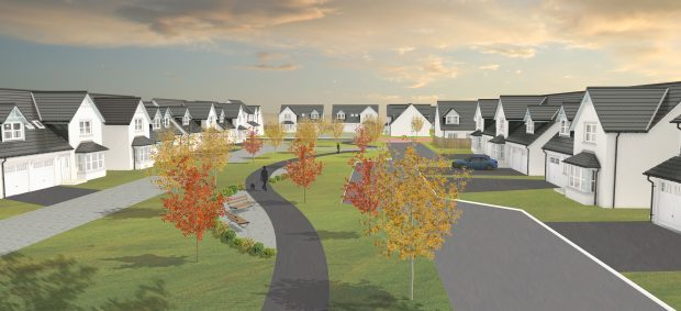 An impression of how the Linlathen development might look.