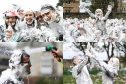 St Andrews University's traditional Raisin Monday foam party. Photos: Mhairi Edwards.