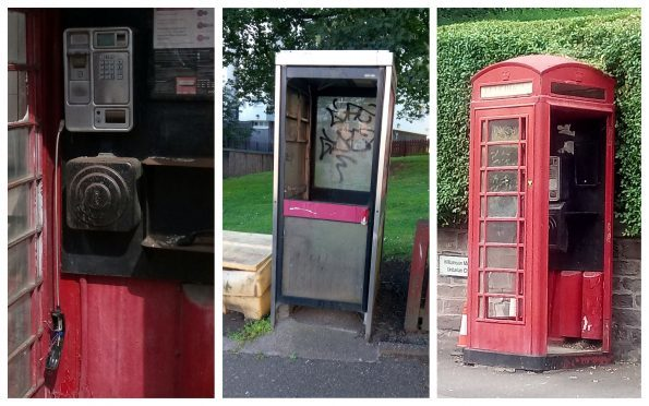 The phone boxes have been left in a poor state of repair across Coldside