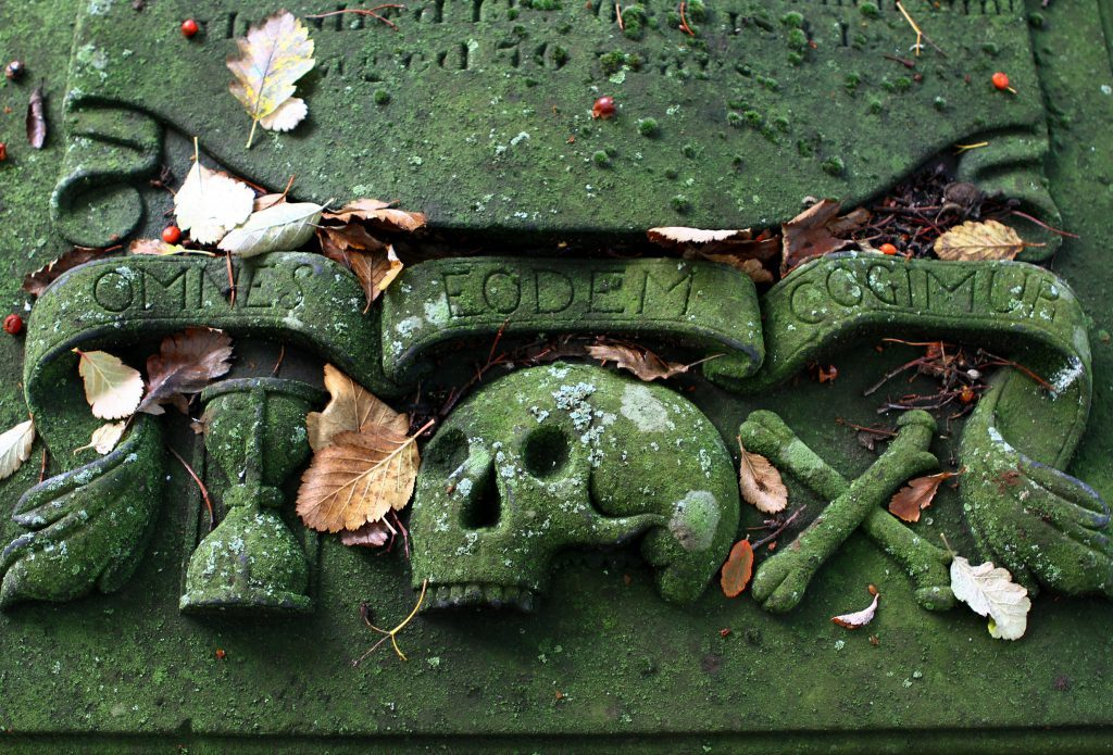 Gravestones in the Howff, Dundee