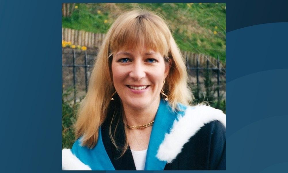 Sheila Nimmo graduating from Abertay University.