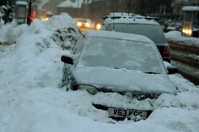 Scenes on Strathmore Avenue, Dundee, during the 2010 winter,