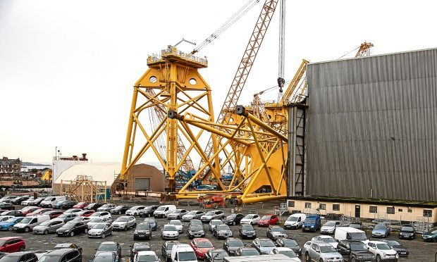 Work is continuing at BiFab's Fife yards