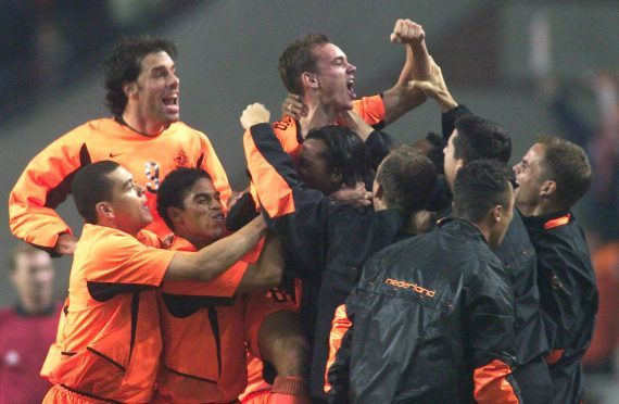 Scotland suffered a 4-0 defeat by the Dutch in 2003.