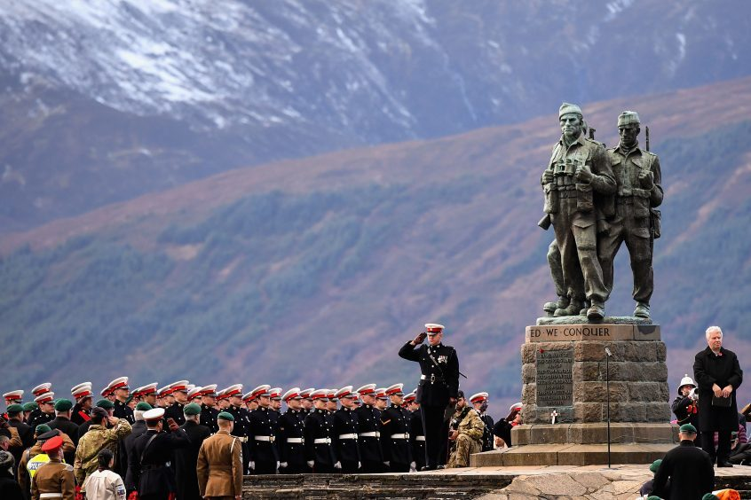 We also had to include this incredible image. Both serving and former commandos gather during the Commando Memorial Service commemorate and pay respect to the sacrifice of service men and women who fought in the two World Wars and subsequent conflicts on November 12, 2017 in Spean Bridge, Scotland.