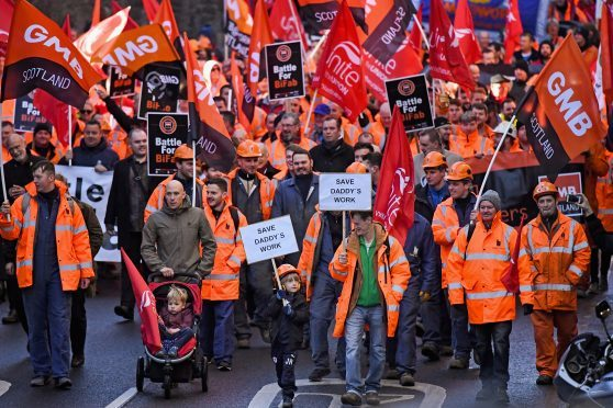 BiFab Workers Rally in Scotland