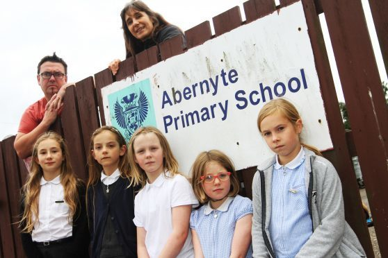 Abernyte pupils and parents hope the school will be saved