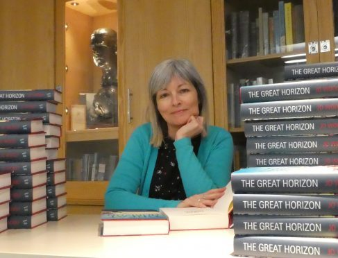 Jo Woolf with her book.