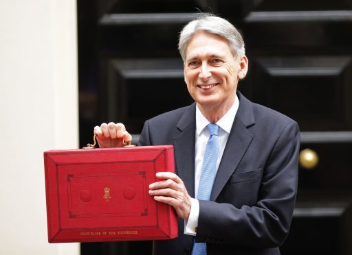 Philip Hammond in Downing Street for the Budget 2017