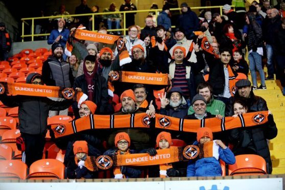 Vali with Dundee United's new fans.