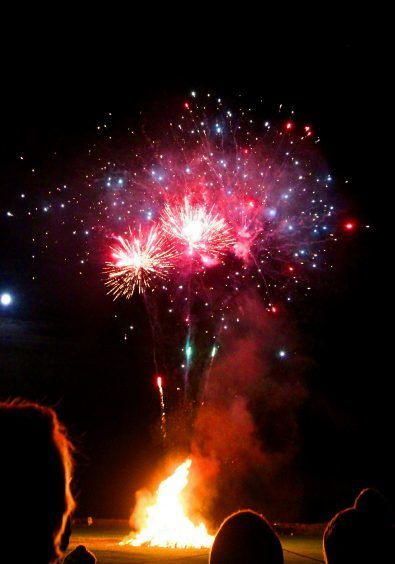 Carnoustie fireworks night at the Black Slab,