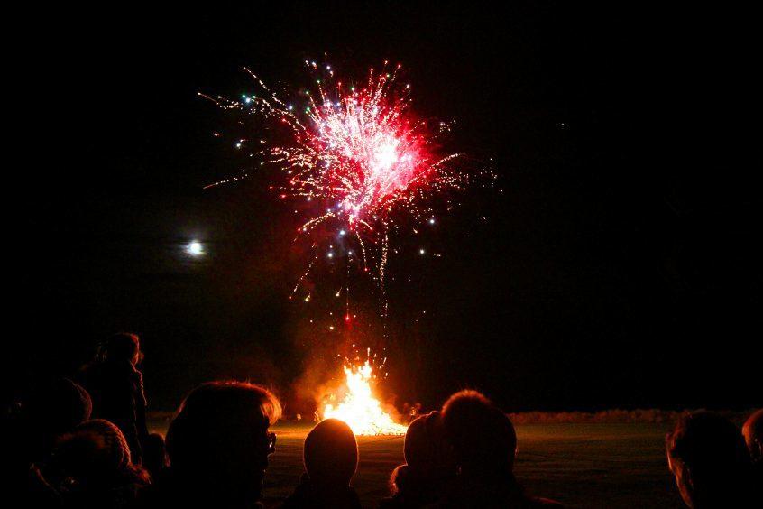 Carnoustie fireworks