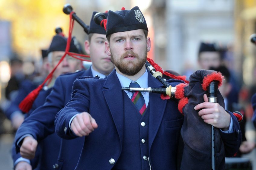 PERTH:The civic parade was led by the Perth & District Pipe Band.