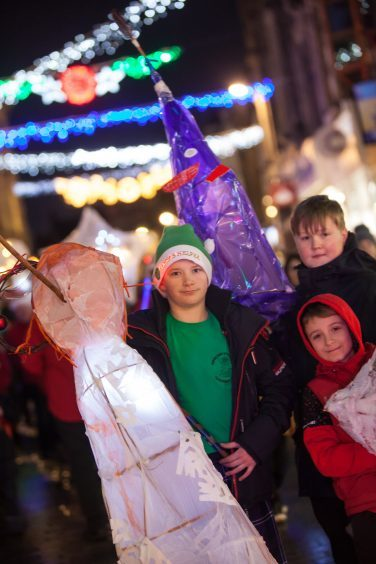 Crowds enjoy the Christmas lights switch-on in Kirkcaldy.